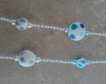 Long Pastel Beaded Necklace