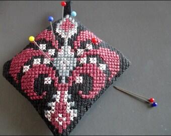 emboidered needle cushion
