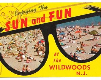Sun and Fun The Wildwoods, NJ Postcard, c. 1960