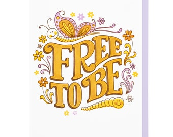 Free To Be Letterpress Card