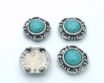 Green Turquoise focal point x 4 pieces