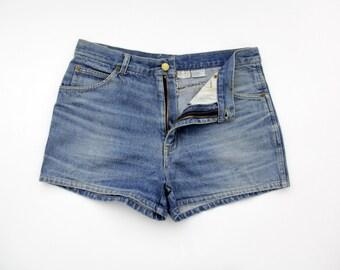Vintage denim shorts // 70's jean shorts
