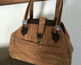 Beautiful cork bag, medium size.