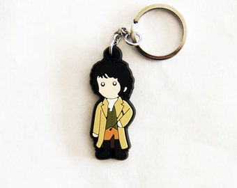 Mr. Darcy Figure Keychain In Riding Outfit Charm Necklace Jane Austen Pride & Prejudice Book Horse Gift
