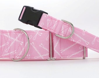 Pin Up Dog Collar (Martingale, Buckle or Tag)