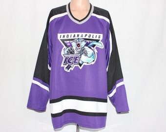 Vintage Indianapolis Ice IHL Hockey Jersey M