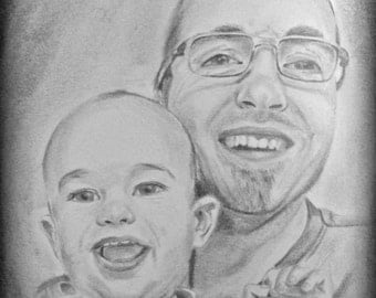 Custom Portrait Drawing, Custom Portrait from Photo, Sketch from Photo, Child Portrait, Black and White Portrait, Photo to Drawing