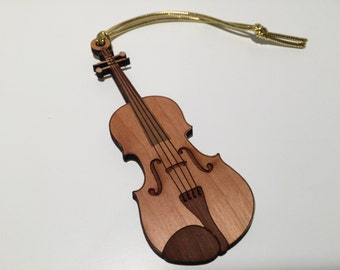 Violin / Viola Wood Ornament