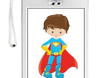 Superhero boy bag tag