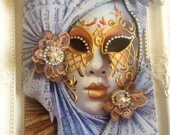 Venetian mask, Masquerade ball masks,3D Wall Art, 3D Decoupage, Venetian Masks, 3D Office decor,Veinice Mask,Home Decor Mask, venice masks