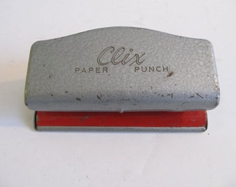 Clix Paper Punch, Clix, Vintage Paper Punch, Paper Punches, Vintage Paper Punch Vintage Office Supplies, Two Hole Punch, Desk Supplies