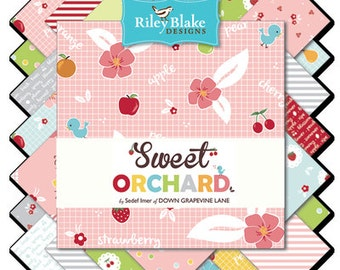 Sweet Orchard FREE SHIPPING Fat Quarter Bundle by Down Grapevine Lane for Riley Blake