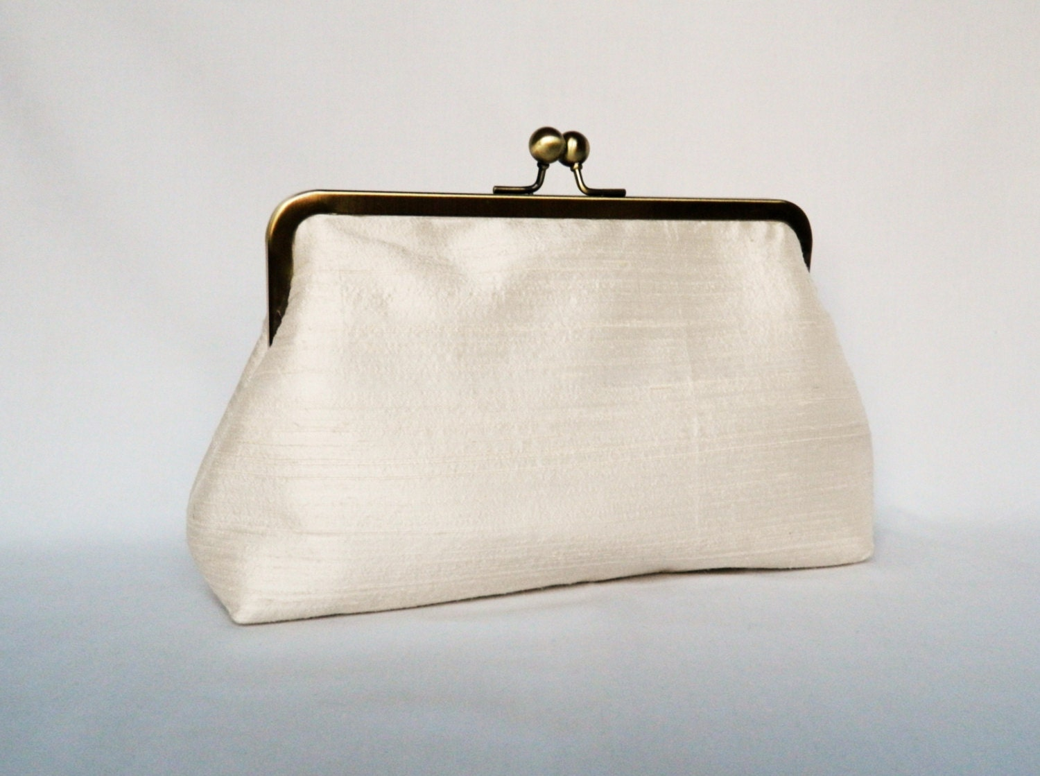 Bridal Clutch Purse Ivory Dupioni Silk Clutch Purse Wedding