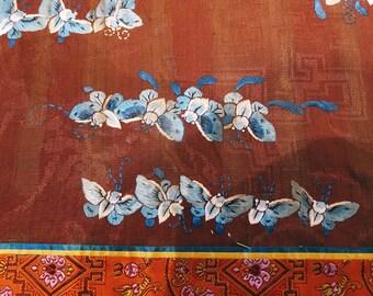 Chinese Embroidered Panel Handmade Silk 1900s