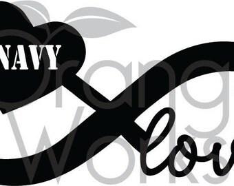 Navy Infinty Love SVG