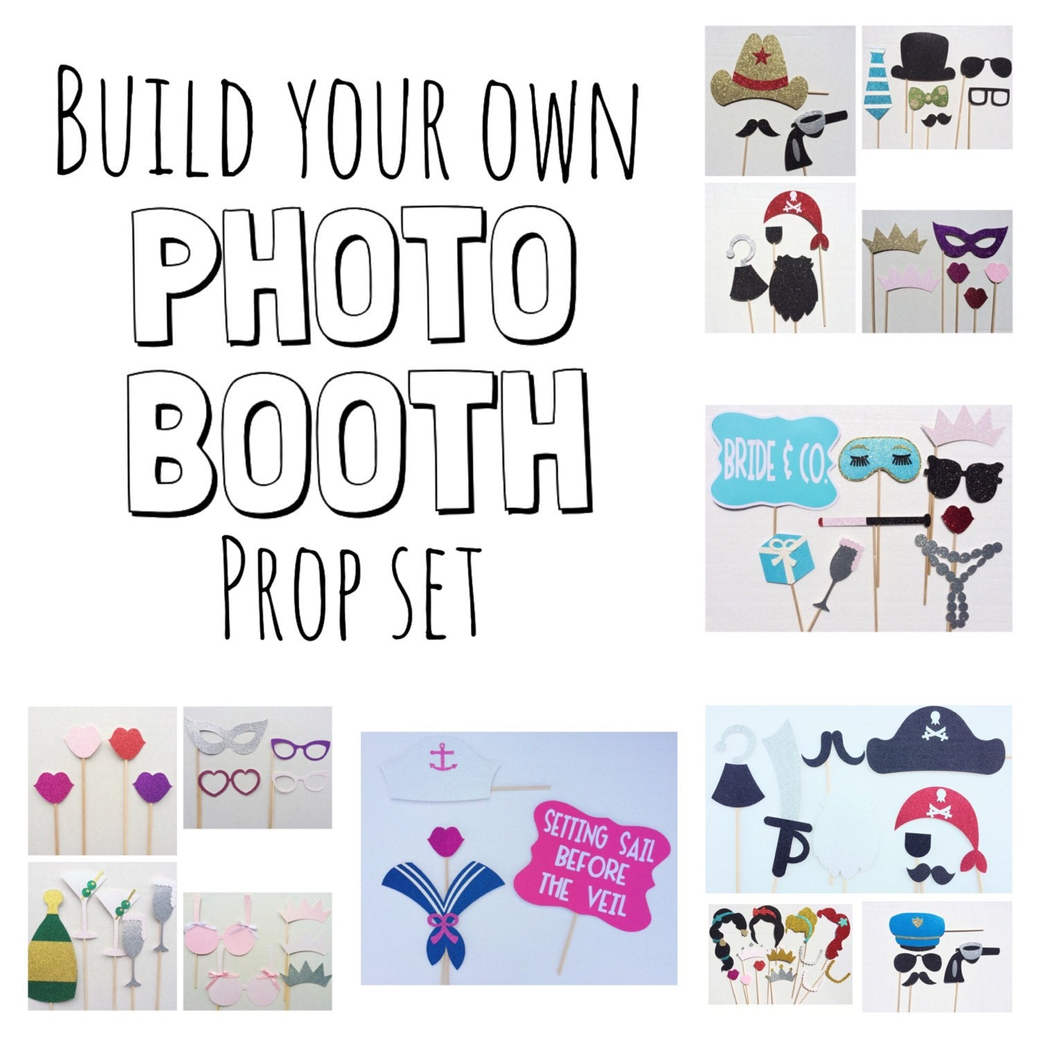 Build Your Own Assorted Photo Booth Prop By LetsGetDecorative