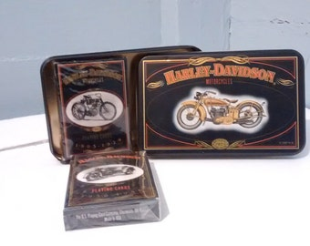 SPRING SALE, Harley Davidson, Playing Cards, Collectors Tin