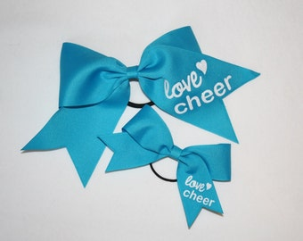 Cheer Bow Set- Dolly and Me- Turquoise