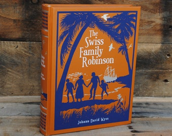 Hollow Book Safe - The Swiss Family Robinson - Leather Bound