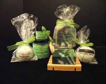 Cucumber Melon Bath Collection