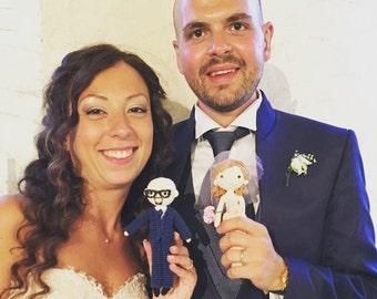 Look a like doll- Crochet doll - Crochet wedding couple - custom made to order