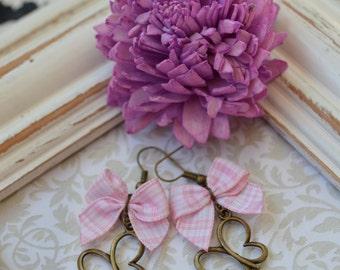 Funky bow butterfly earrings