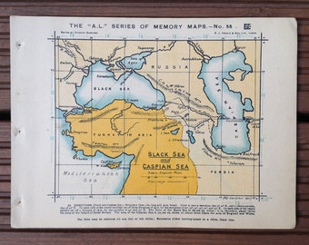 Map of the Black sea and the Caspian Sea