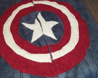 Captian America Hooded Towel