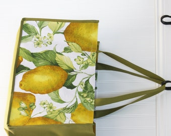 Lemon Shopping Bag - Market Bag - Farmers Market Bag - Citrus