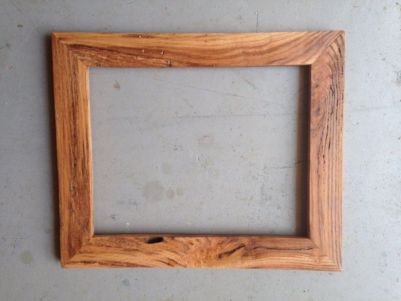 Decorative Wood Framing : Custom oak wood picture frame