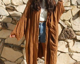 oversized brown drape jacket