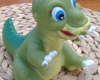 Vintage Dink, the Little Dinosaur Rubber Character Toy