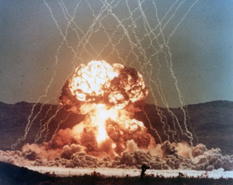 Operation Teacup, Atomic Blast, Nuclear Test, WWII, Photo Print