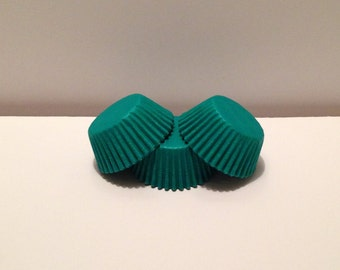 Mini Green Grease Resistant cupcake liners/baking cups- 50 count