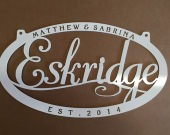 Personalized, metal sign with your name