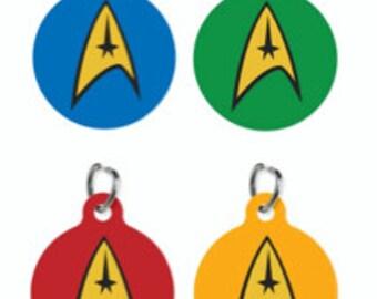Star Trek Emblem Pet ID Name Tag Personalised Custom Dog Cat Name Tag
