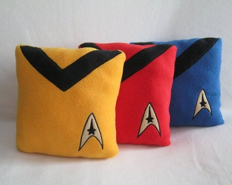 Star Trek Pillows Yellow-Red-Blue