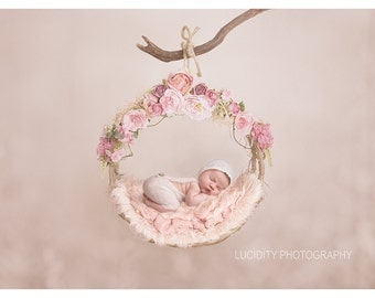 Digital backdrop/prop (Woodland Swing Floral)