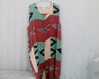 90's resort motif dress