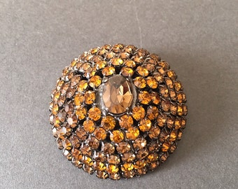 Vintage Paste Champagne Brooch Pin