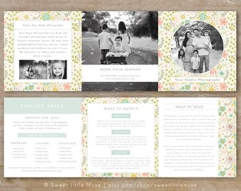 Mini trifold etsy for Mini brochure template