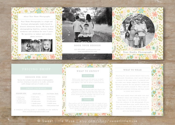 Trifold brochure accordion mini template trifold template for Mini brochure template