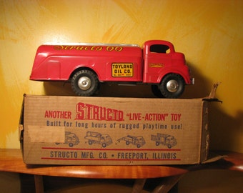 Vintage Structo Gasoline Truck