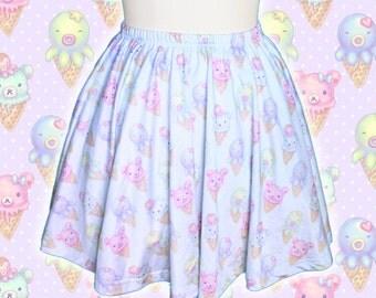 "Mint ""IceCreamy Bearcones"" Skirt"