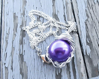 Final Fantasy Necklace - Purple Materia Necklace - Final Fantasy VII - Video game jewelry - Materia pendant - Materia necklace