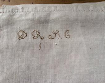19th C Homespun Linen Sheet