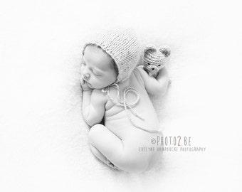 Newborn knit bear buddy set