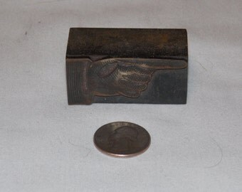 Wood Pointing Hand Printing Block