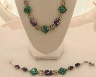 Turkey Turquoise 3 pc. Necklace,Bracelet, Earring set