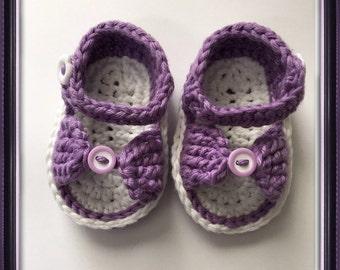 Crochet Sandals, Baby Girl Sandals, Newborn Sandals, Baby Flip Flops 3 Inch Sole, Newborn Shoes, Girl Sandals,  Baby Photo Prop,  Baby Girl